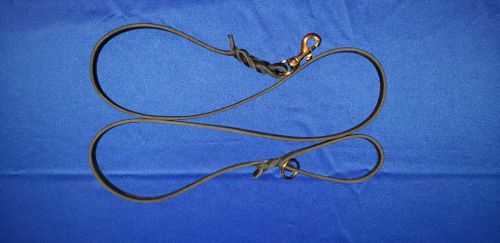 Leather Dog Leash, 4 ft with EZ Carry Ring